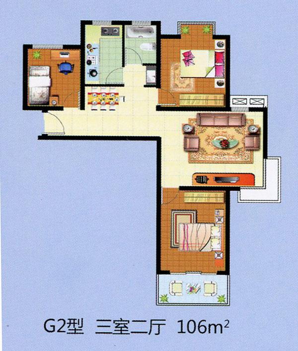 G2三室二厅 106平方