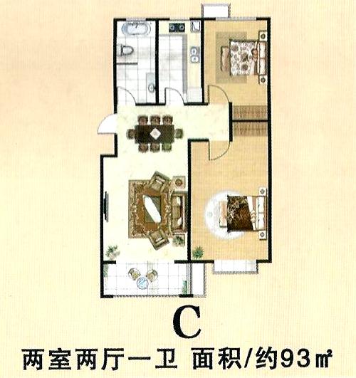 C两室两厅一卫